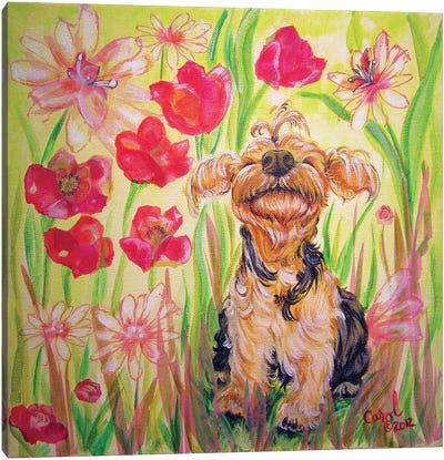 Playful Pup X Canvas Art Print