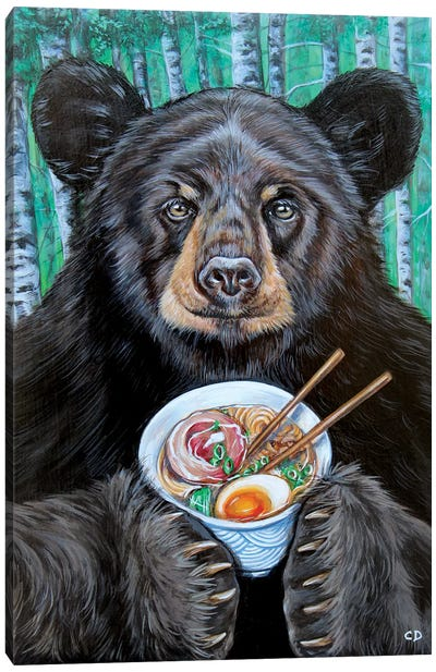 Foodie The Bear Canvas Art Print