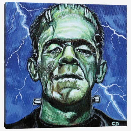 Frankenstein Canvas Print #CDO11} by Cyndi Dodes Canvas Artwork