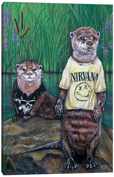 Generation X Otters Canvas Art Print
