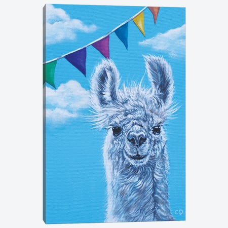 Llama Party Canvas Print #CDO17} by Cyndi Dodes Canvas Art Print