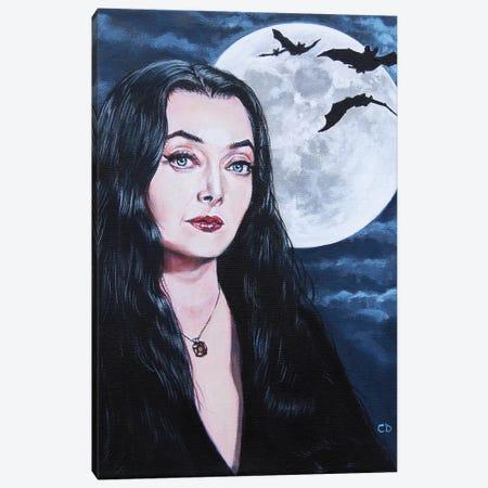 Morticia Addams Canvas Print #CDO19} by Cyndi Dodes Canvas Art