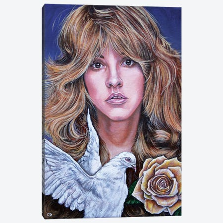 Stevie Nicks Canvas Print #CDO27} by Cyndi Dodes Canvas Wall Art