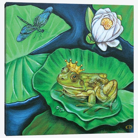 The Frog Prince Canvas Print #CDO29} by Cyndi Dodes Canvas Art Print