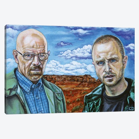 Walter White & Jesse Pinkman Canvas Print #CDO31} by Cyndi Dodes Canvas Art