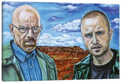 Walter White & Jesse Pinkman Canvas Art Print