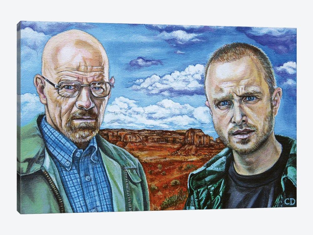 Walter White & Jesse Pinkman by Cyndi Dodes 1-piece Art Print