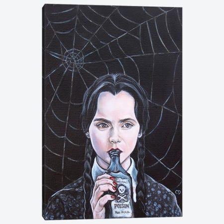Wednesday Addams Canvas Print #CDO32} by Cyndi Dodes Canvas Wall Art