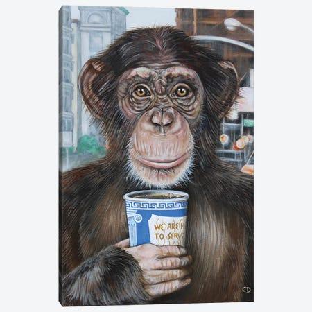 Morning Coffee Canvas Print #CDO37} by Cyndi Dodes Canvas Print