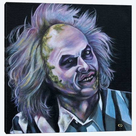 Beetlejuice Canvas Print #CDO38} by Cyndi Dodes Canvas Art