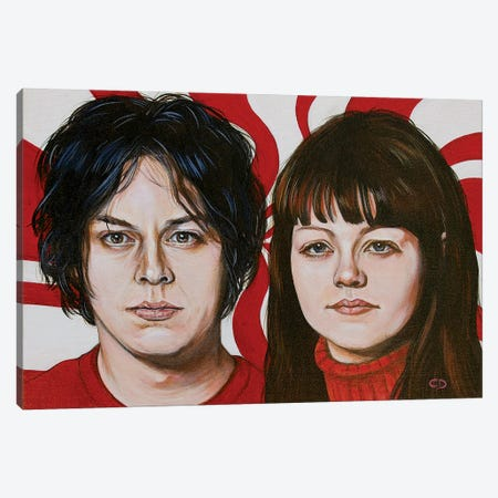 The White Stripes Canvas Print #CDO46} by Cyndi Dodes Canvas Wall Art