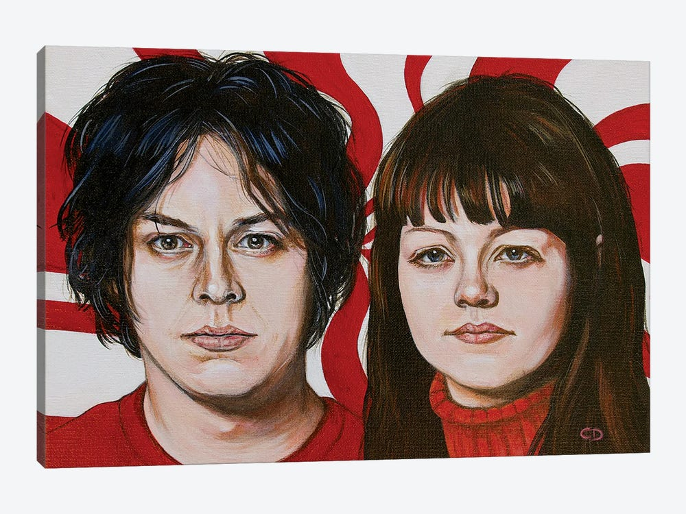 The White Stripes by Cyndi Dodes 1-piece Canvas Art Print