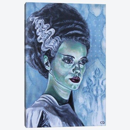 Bride of Frankenstein Canvas Print #CDO4} by Cyndi Dodes Art Print