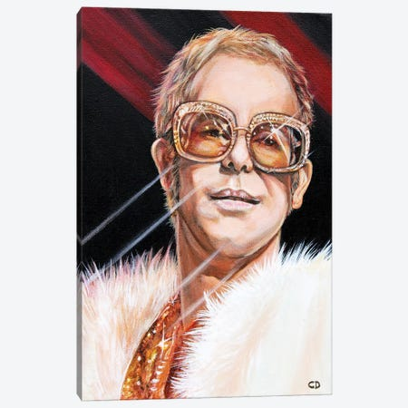 Elton John Canvas Print #CDO9} by Cyndi Dodes Canvas Wall Art