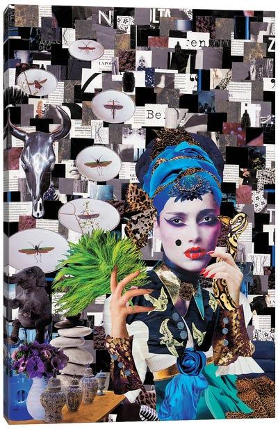 Geisha Blanconegro Canvas Art Print