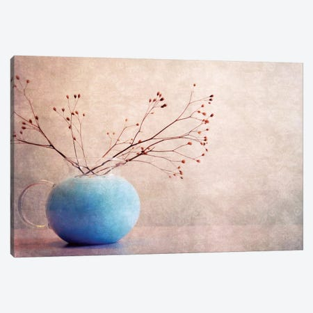 Blue Water Canvas Print #CDR10} by Claudia Drossert Art Print