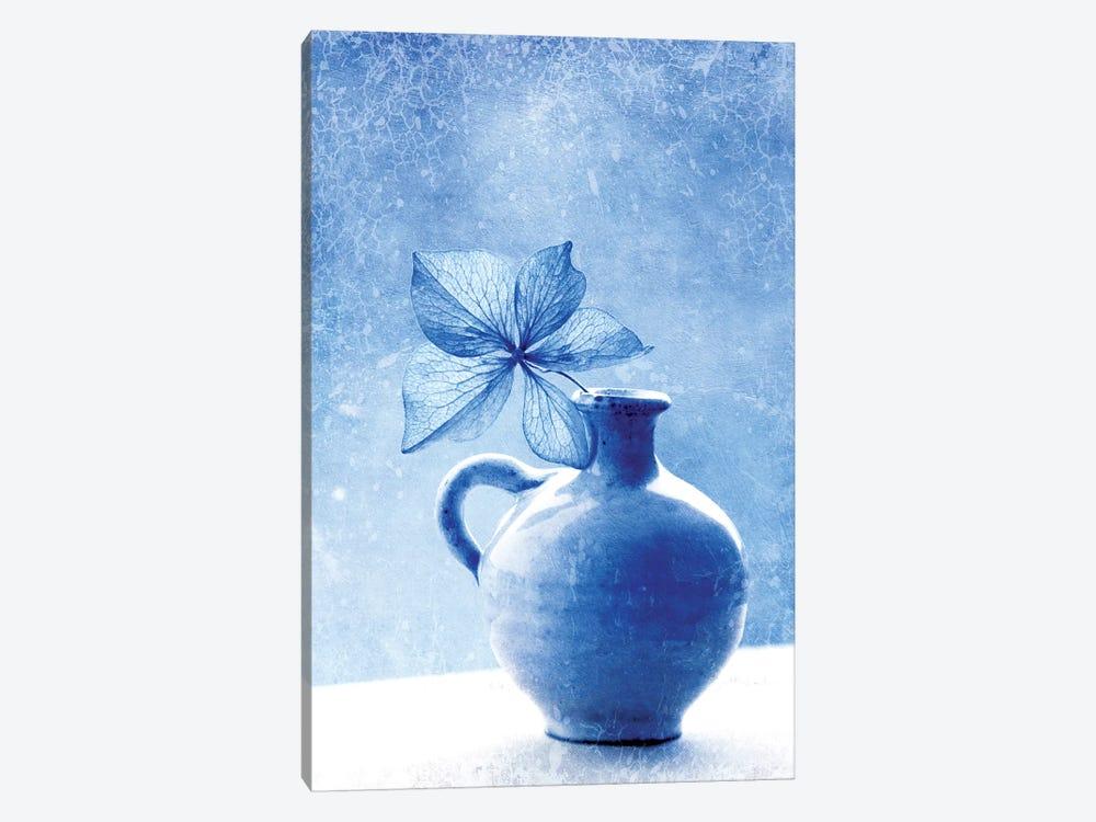 Blue Hydrangea Stilllife by Claudia Drossert 1-piece Art Print