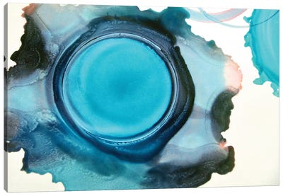 Blue Circle Canvas Art Print