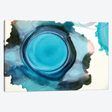 Blue Circle Canvas Print #CDR184} by Claudia Drossert Canvas Print