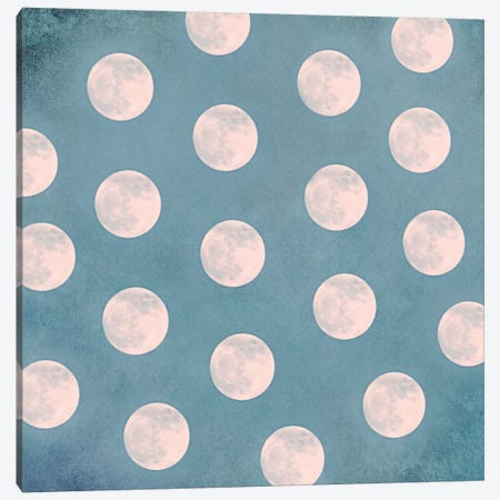 Mond II Canvas Print #CDR44} by Claudia Drossert Art Print