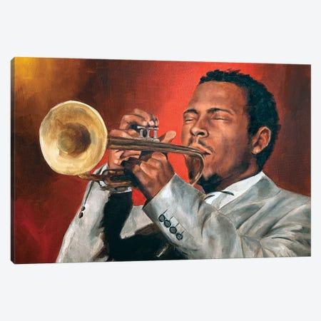 Roy Hargrove Canvas Print #CDS13} by Cody Senn Canvas Wall Art