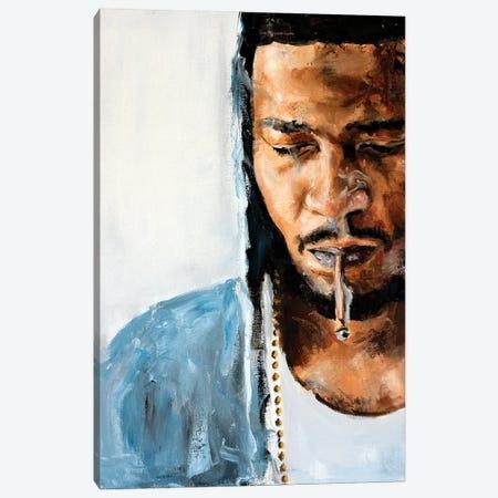 Kid Cudi Canvas Print #CDS18} by Cody Senn Canvas Art