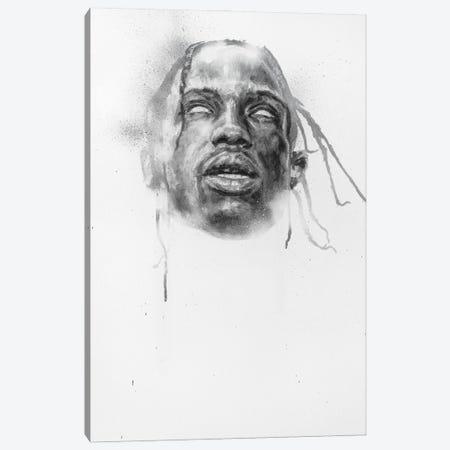 Travis Scott Canvas Print #CDS29} by Cody Senn Canvas Art Print