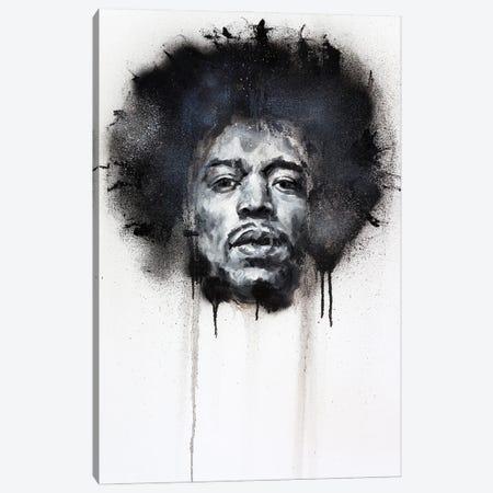 Jimi Hendrix Canvas Print #CDS2} by Cody Senn Canvas Art Print