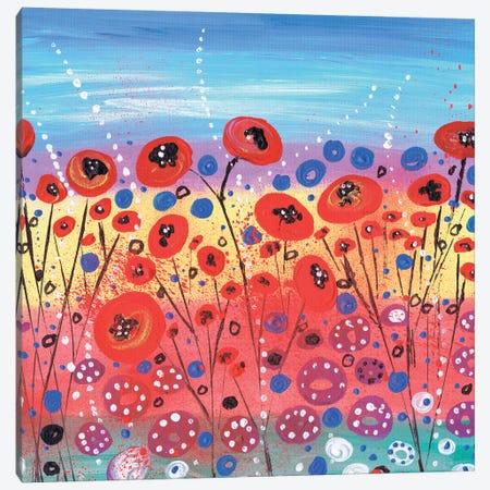 Blooms In Summer Canvas Print #CDU10} by Caroline Duncan ART Canvas Artwork