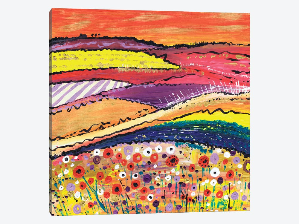 Fields Of Gold by Caroline Duncan ART 1-piece Canvas Print