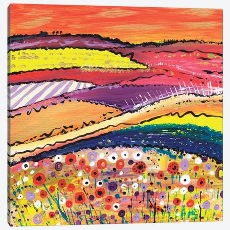 Fields Of Gold Canvas Print #CDU14} by Caroline Duncan ART Art Print
