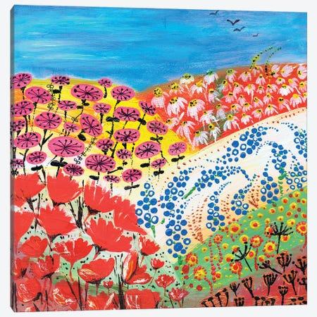 Flower Fusion Canvas Print #CDU15} by Caroline Duncan ART Canvas Art Print
