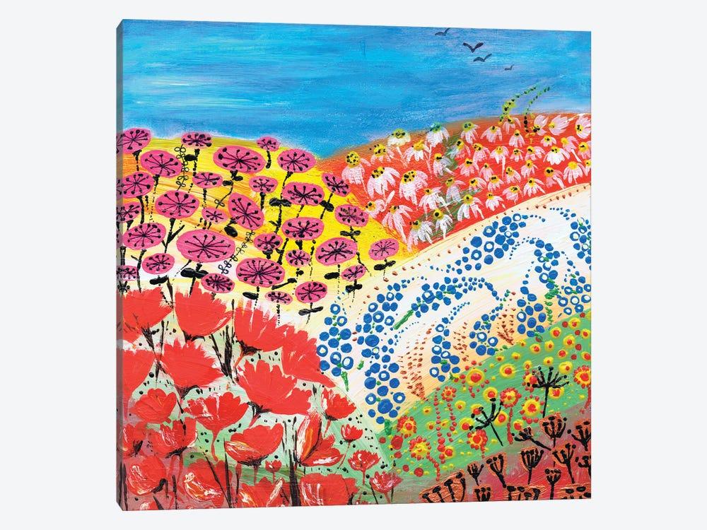 Flower Fusion by Caroline Duncan ART 1-piece Canvas Artwork