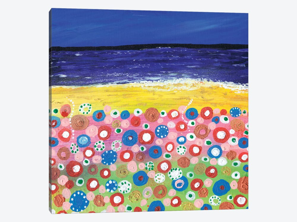 Flowers By The Beach 1-piece Canvas Print
