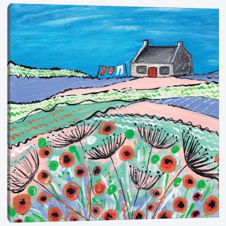 Getting The Washing Done 3-Piece Canvas #CDU17} by Caroline Duncan ART Canvas Print
