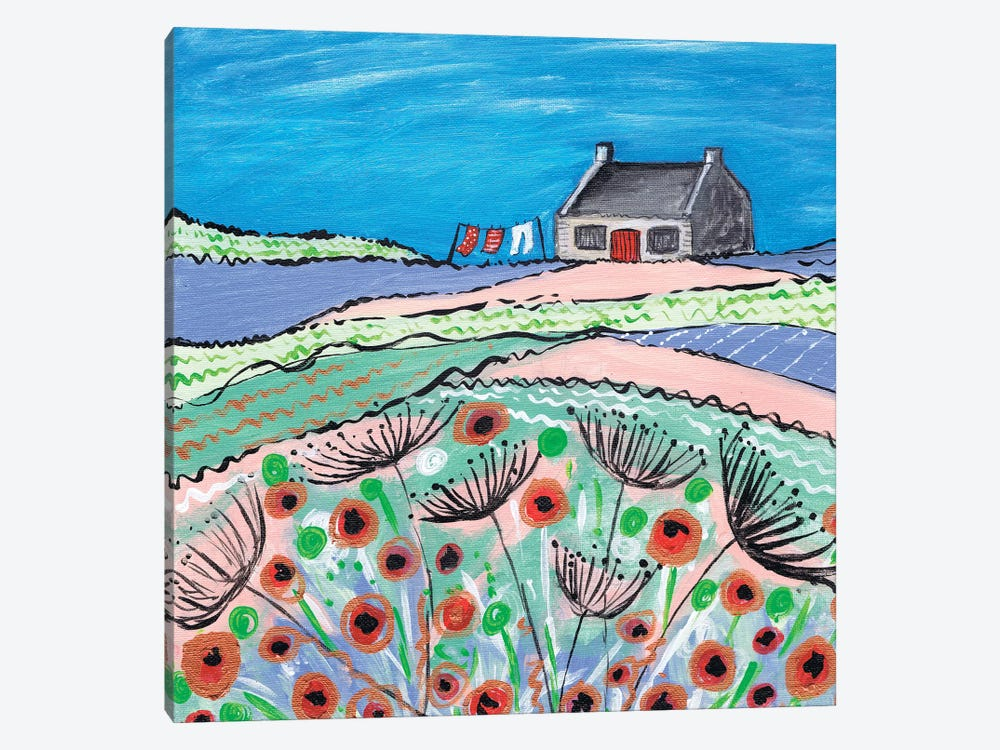 Getting The Washing Done by Caroline Duncan ART 1-piece Canvas Wall Art