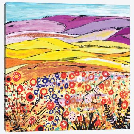 Gold And Lilac Canvas Print #CDU18} by Caroline Duncan ART Canvas Artwork