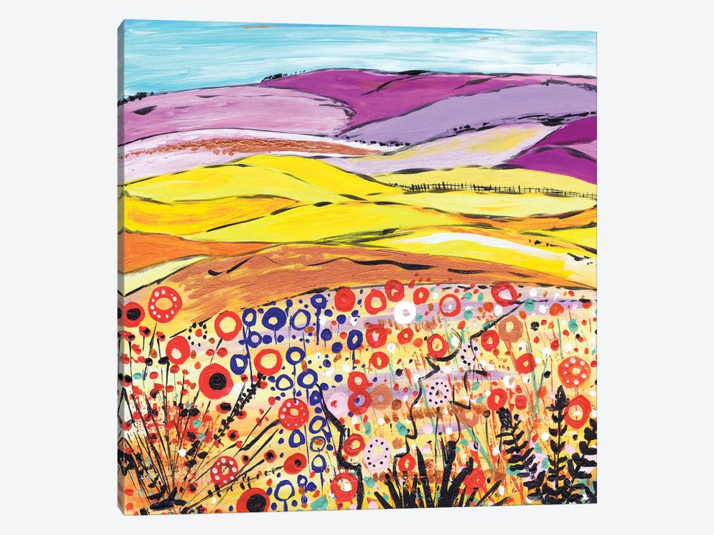 Gold And Lilac by Caroline Duncan ART 1-piece Canvas Print