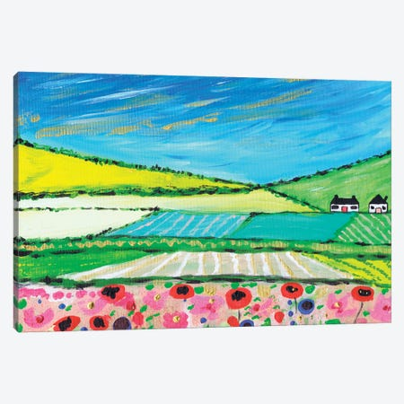 Golden Cornfields 3-Piece Canvas #CDU19} by Caroline Duncan ART Canvas Artwork