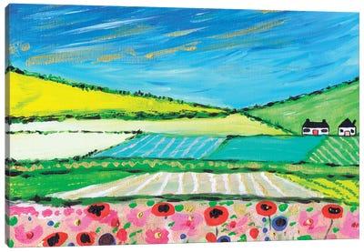 Golden Cornfields Canvas Art Print