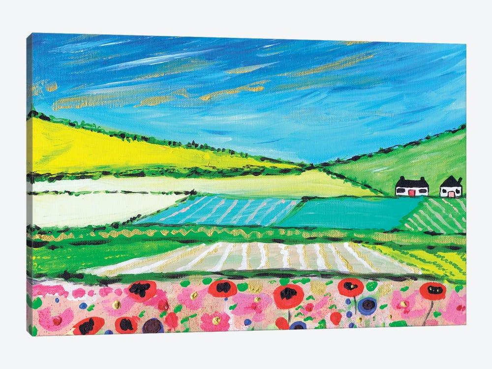 Golden Cornfields by Caroline Duncan ART 1-piece Canvas Art