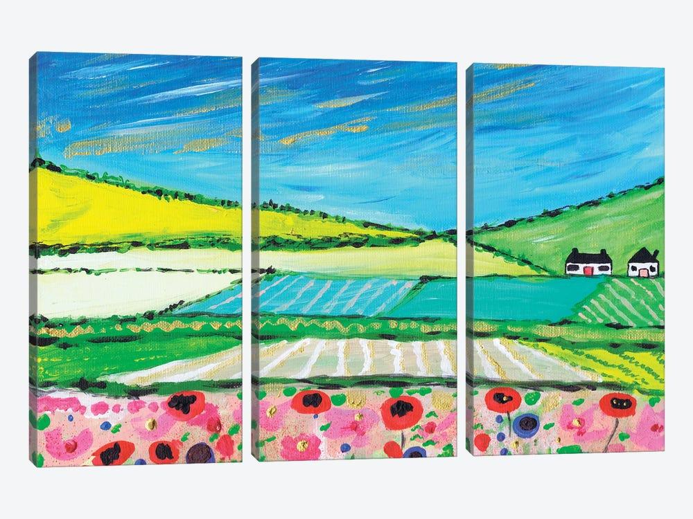 Golden Cornfields by Caroline Duncan ART 3-piece Canvas Art