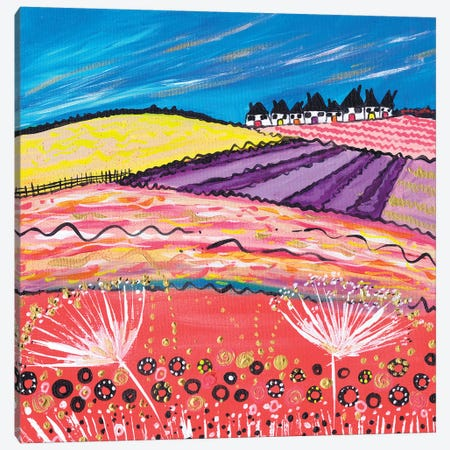 Lavender View Canvas Print #CDU24} by Caroline Duncan ART Canvas Wall Art