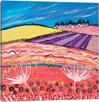 Lavender View Canvas Art Print