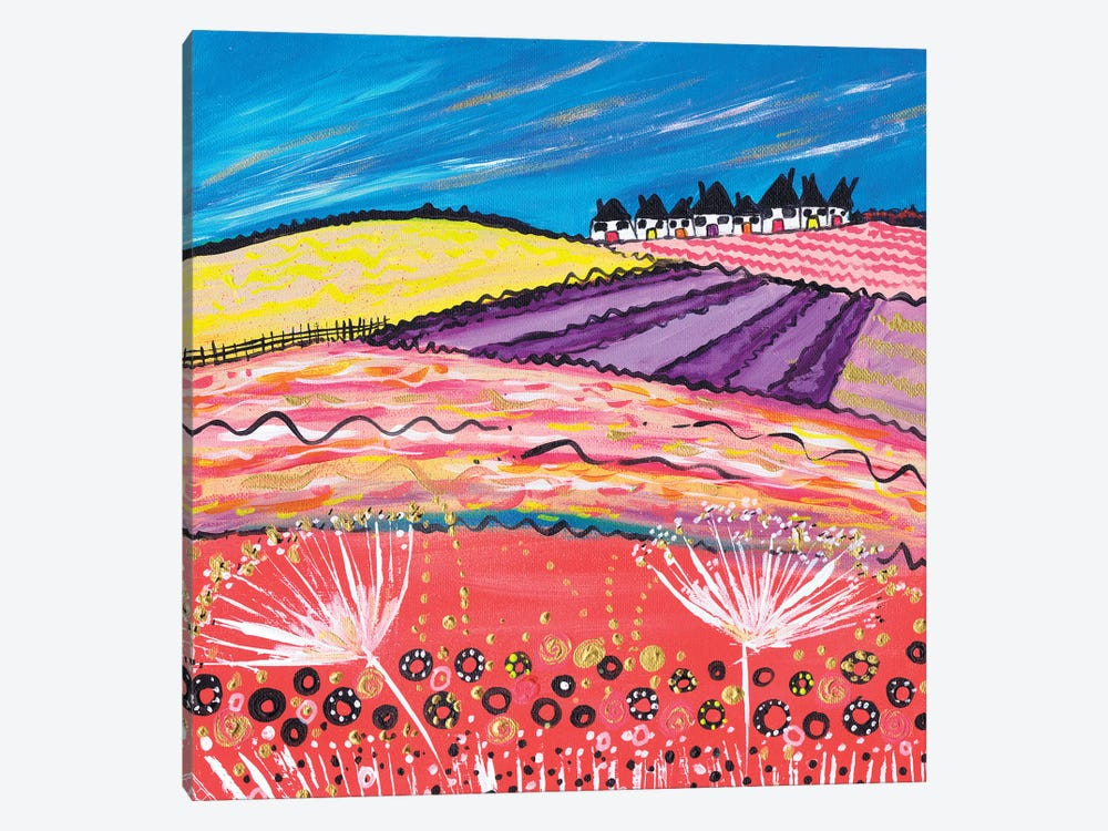 Lavender View by Caroline Duncan ART 1-piece Canvas Art