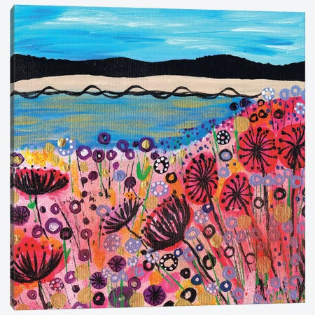 Life's A Beach Canvas Print #CDU26} by Caroline Duncan ART Canvas Art