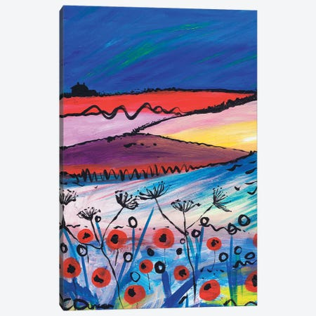 Night Falling Canvas Print #CDU27} by Caroline Duncan ART Canvas Art