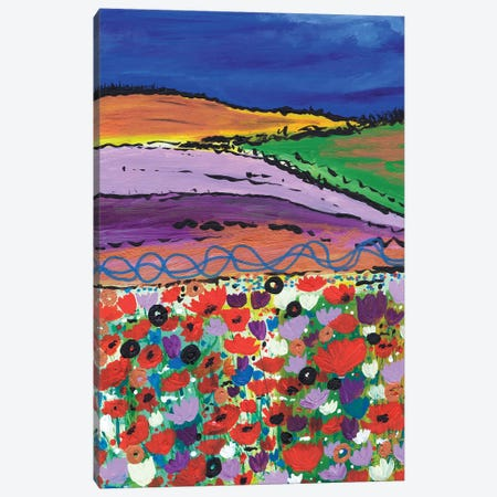 Night Falling On Aboyne Canvas Print #CDU28} by Caroline Duncan ART Canvas Print