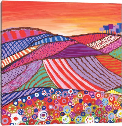 Patchwork Fields In Scotland Canvas Art Print