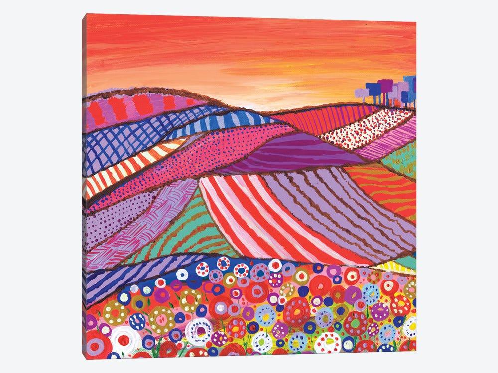Patchwork Fields In Scotland by Caroline Duncan ART 1-piece Canvas Wall Art